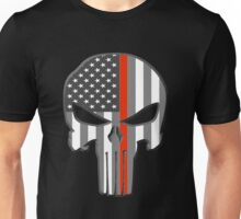American Skull Thin Red Line  Unisex T-Shirt