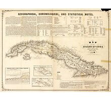 Map of the Island of Cuba (1855) Photographic Print