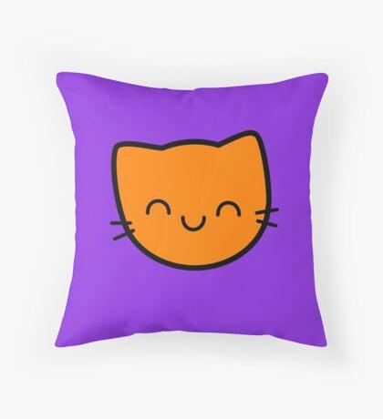 Kawaii Kitty Cats 2048 - tile 16 Throw Pillow