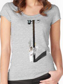 Smoke break!! Women's Fitted Scoop T-Shirt