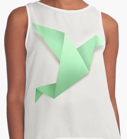 Origami Mint Green Contrast Tank