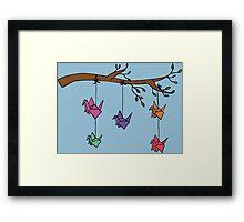 Paper Birds Framed Print