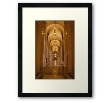 Cathedral Hallway Framed Print
