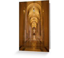 Cathedral Hallway Greeting Card