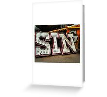 Sing About Sin Greeting Card