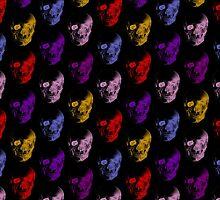 Colorful X-Ray Skulls Pattern by ArtVixen