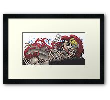 Death in the Deep Framed Print