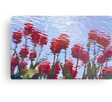 Reflected Tulips Metal Print