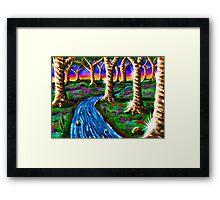 """Caramel Tree Forest 23"" Framed Print"