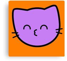 Kawaii Kitty Cats 2048 - tile 64 Canvas Print
