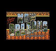 New Orleans Vintage Large Letter Postcard by Framerkat