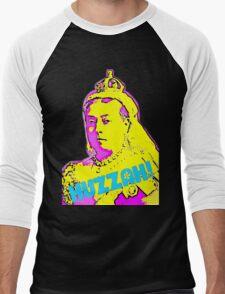 Huzzah! Queen Victoria Psychedelic Pop Art Men's Baseball ¾ T-Shirt