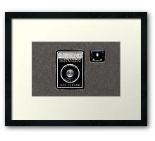 Vintage Camera cell phone case camera geeks Framed Print