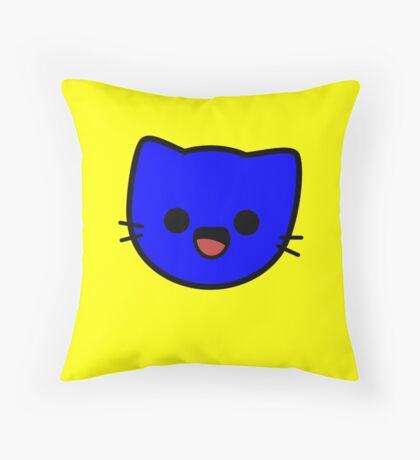 Kawaii Kitty Cats 2048 - tile 128 Throw Pillow