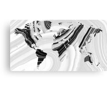 Black And White Marbled World Map - Sharon Cummings Canvas Print