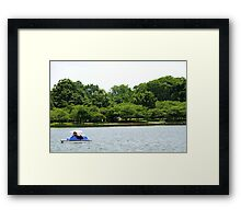Pedaling Around Framed Print