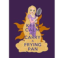 Keep Calm and Carry a Frying Pan Photographic Print