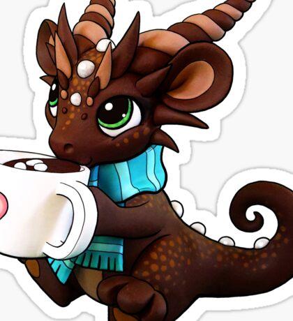 Hot Cocoa Dragon Sticker