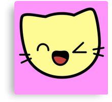 Kawaii Kitty Cats 2048 - tile 256 Canvas Print