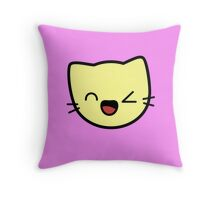 Kawaii Kitty Cats 2048 - tile 256 Throw Pillow