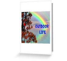 rainbow over the lake Greeting Card