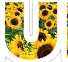 Run Flower Field Sticker