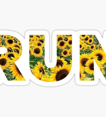 Run Flower Field Sticker