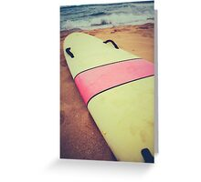 Vintage Hawaii Surf Board Greeting Card