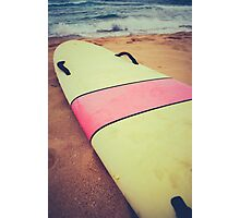 Vintage Hawaii Surf Board Photographic Print