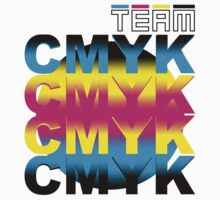 TEAM CMYK by GuitarAtomik