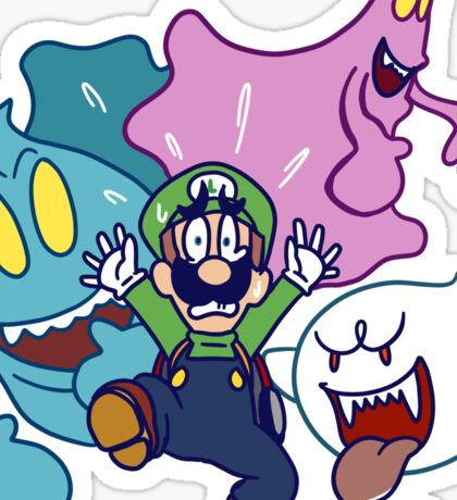 Luigi's Being Chased by Ghosts Sticker