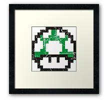 Green Mushroom Framed Print