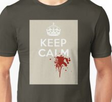 "Walking Dead Style ""Keep Calm"" with Zombie Blood Splatter Unisex T-Shirt"