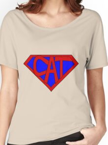 Hero, Heroine, Superhero, Super Cat Women's Relaxed Fit T-Shirt