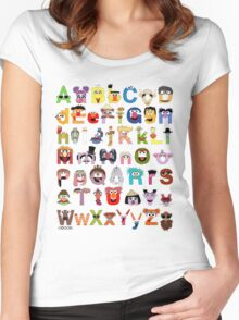 Sesame Street Alphabet Women's Fitted Scoop T-Shirt