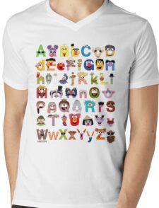 Sesame Street Alphabet Mens V-Neck T-Shirt