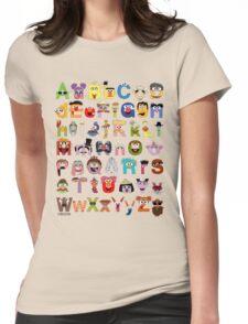 Sesame Street Alphabet Womens Fitted T-Shirt