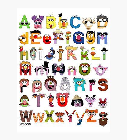 Sesame Street Alphabet Photographic Print