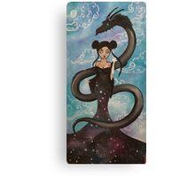 the magic geisha w/ dragon Canvas Print