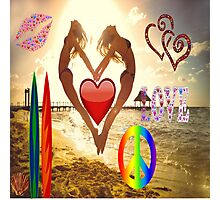 Love being at the beach Photographic Print