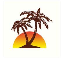 Palm and Sun Art Print