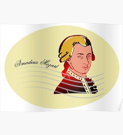 Amadeus Mozart Poster