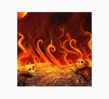 Flaming Skulls Unisex T-Shirt
