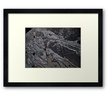 Falling Into The Abyss Framed Print