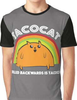 Tacocat spelled backwards is Tacocat Graphic T-Shirt