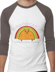 Tacocat spelled backwards is Tacocat Men's Baseball ¾ T-Shirt