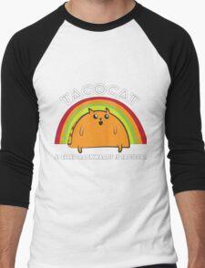 Tacocat spelled backwards is Tacocat Men's Baseball ¾ T-Shirt