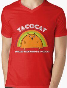 Tacocat spelled backwards is Tacocat Mens V-Neck T-Shirt