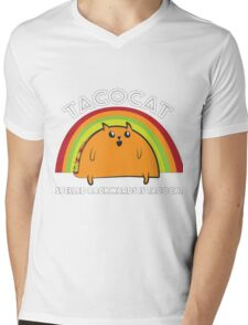 Tacocat spelled backwards is Tacocat Mens V-Neck T-Shirt