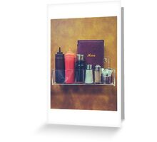Retro Hipster Diner Detail Greeting Card